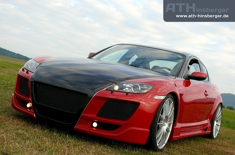 mazda rx8 modified red. bigger pic here mazda rx8 modified red