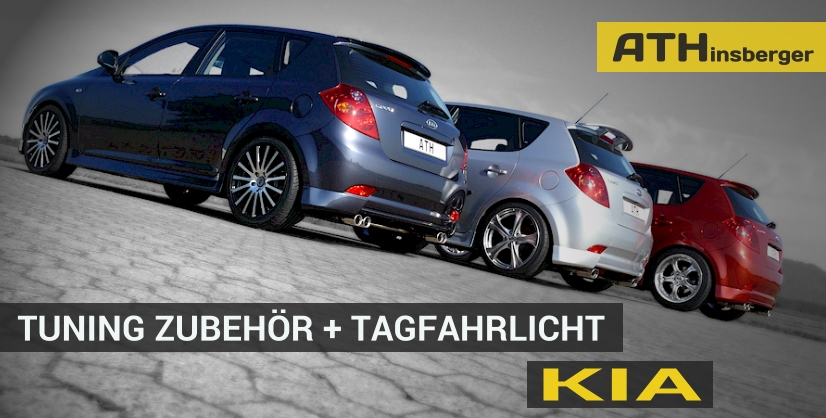 kia tuning tagfahrlicht zubeh r teile mit t v. Black Bedroom Furniture Sets. Home Design Ideas