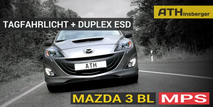 mazda 3 bl mps tuning zubeh r tagfahrlicht t v. Black Bedroom Furniture Sets. Home Design Ideas