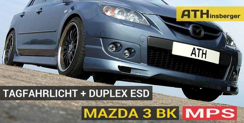 mazda 3 bk mps tuning zubeh r tagfahrlicht t v. Black Bedroom Furniture Sets. Home Design Ideas