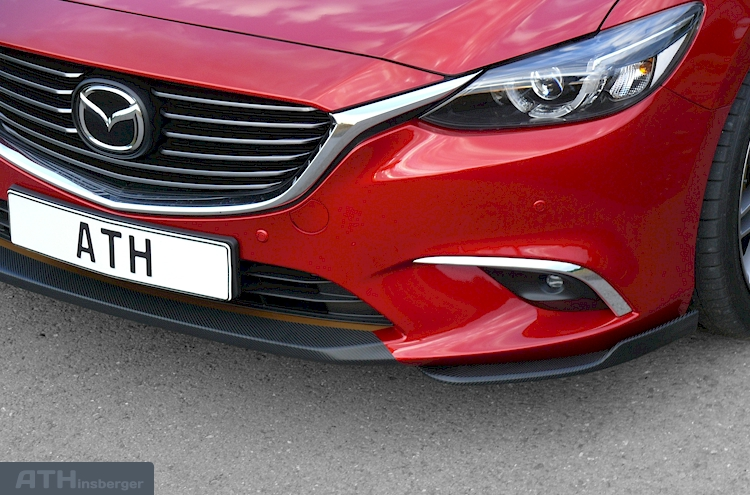 Mazda 6 GJ Facelift Frontspoiler Flaps - Auto Tuning  Zubehör LED Tagfahrlicht