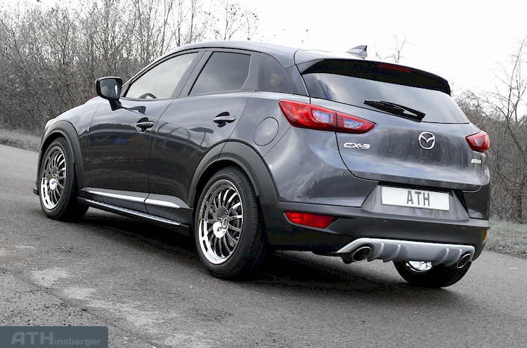 2014 mazda cx 3 heckschrze in diffusor optik mazda cx 3 neuer mazda2 2015 technische daten und. Black Bedroom Furniture Sets. Home Design Ideas